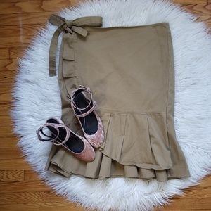 Who What Wear Khaki Midi Skirt